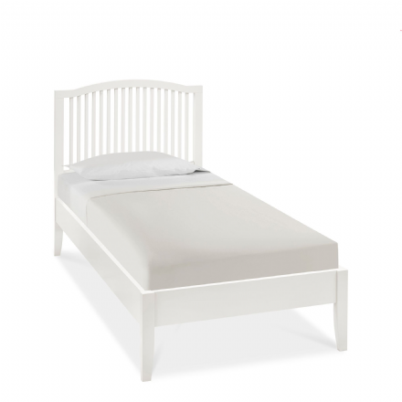 Ashby White Painted Single Bedstead